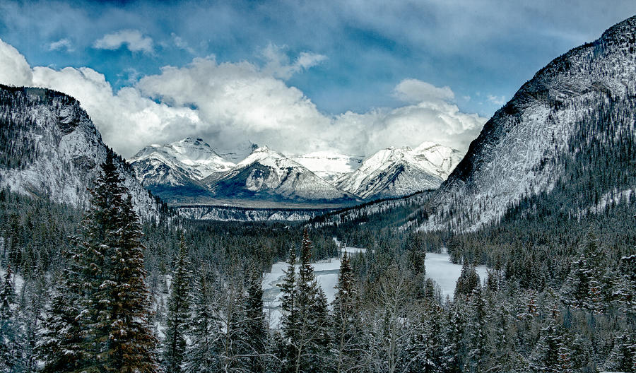 Banff Springs Valley in Winter by Levin Rodriguez