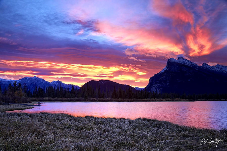 Alberta Photograph - Banff Sunrise Six Minutes Later by Phill Doherty