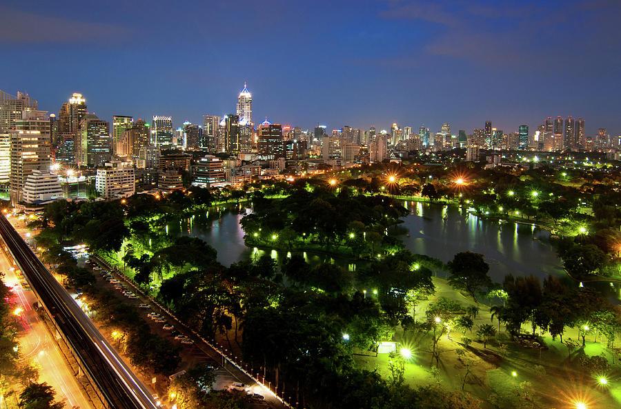 Bangkok City Photograph by Nutexzles