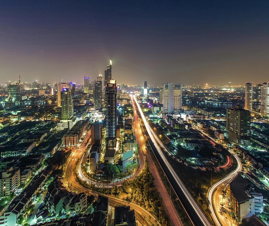 Bangkok Cityscape Skyline Photograph by Thanapol Tontinikorn