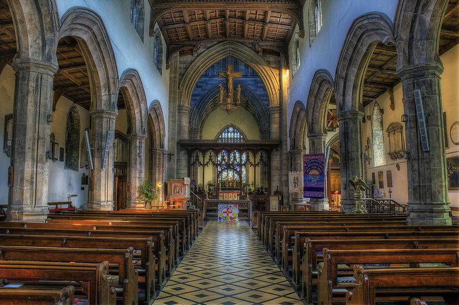 Bangor Photograph - Bangor Cathedral V2 by Ian Mitchell