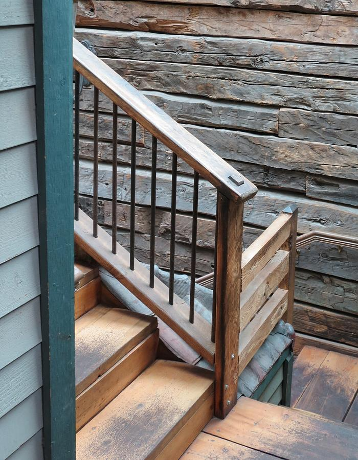 Stairs Photograph - Banister by Don Barnes