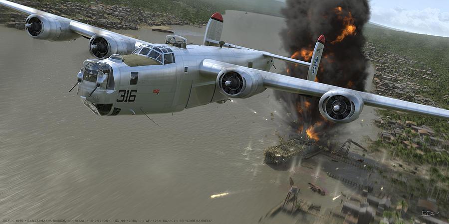 B-24 Digital Art - Banjarmasin by Robert Perry