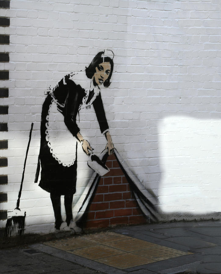 Maid Photograph - Banksy Maid by A Rey
