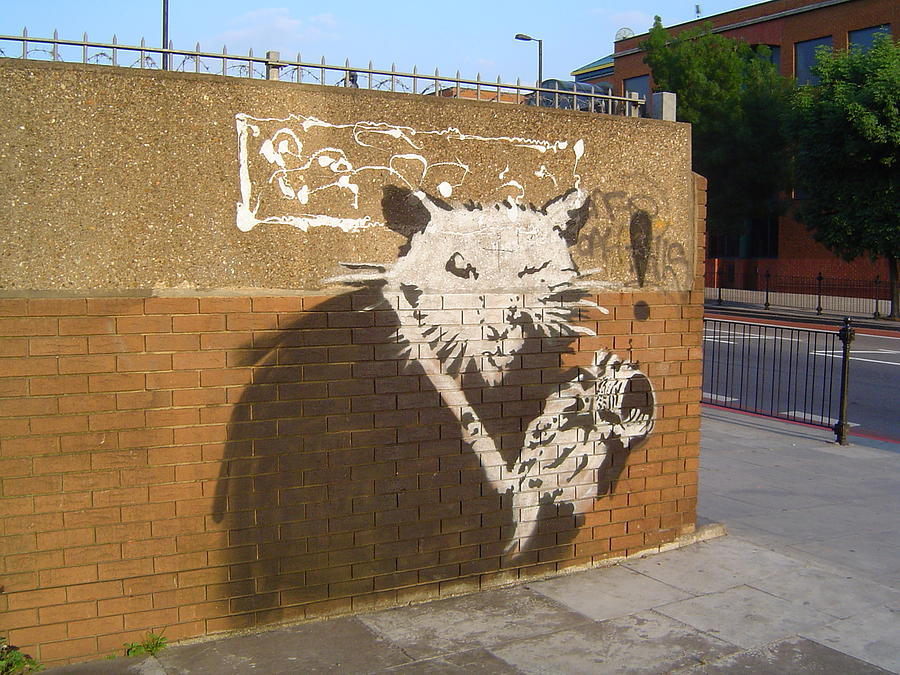 Banksy The Rat London Photograph by Arik Bennado