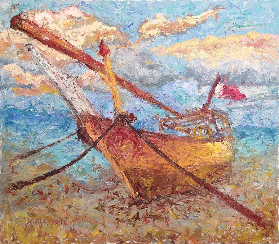 Sea Painting - Banoush II by Khalid Alzayani
