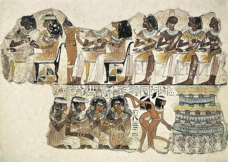 Horizontal Photograph - Banquet Scene. Ca. 1350 Bc. 18th by Everett
