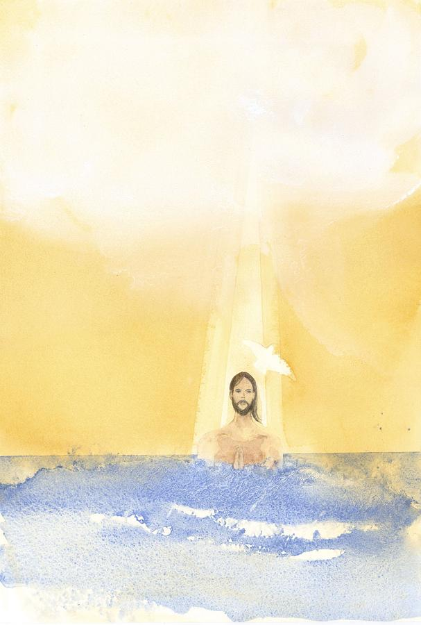 Catholic Painting - Baptism by John Meng-Frecker