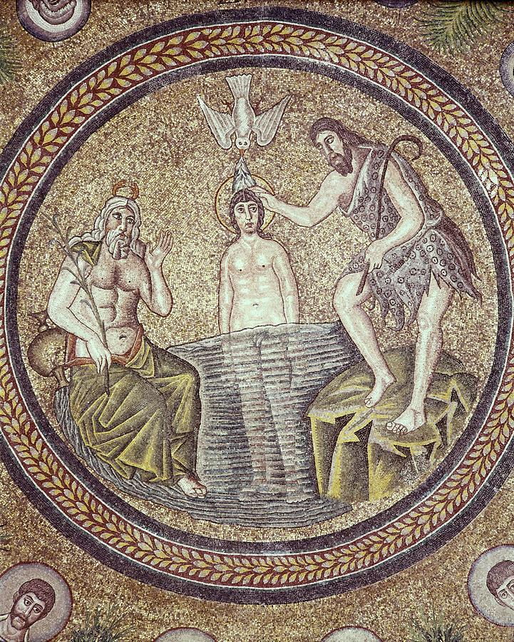 Vertical Photograph - Baptism Of Christ. End 5th C. Italy by Everett