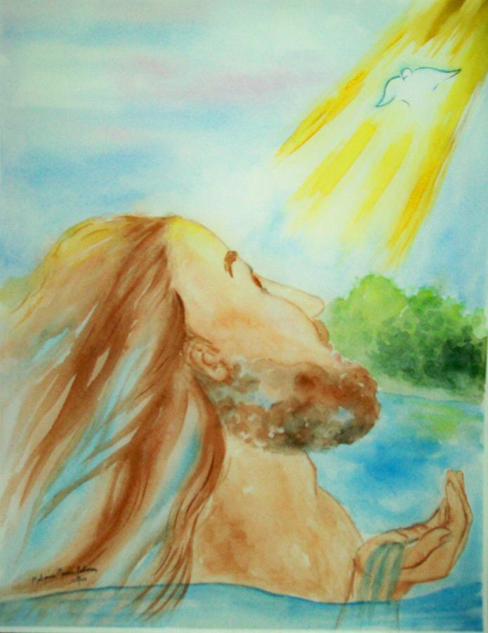 Jesus Painting - Baptism Of Christ by Melanie Palmer