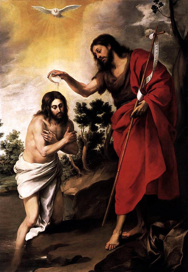Baptism of Jesus Christ by Esteban Murillo
