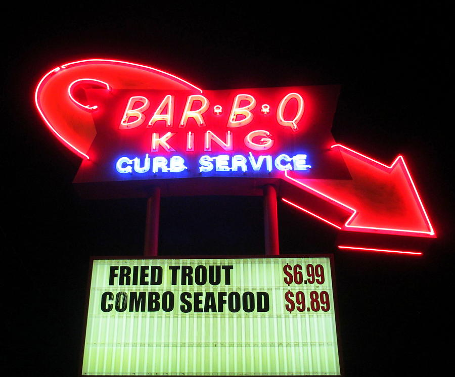 Barbeque Photograph - Bar B Q King In Charlotte N C by Randall Weidner