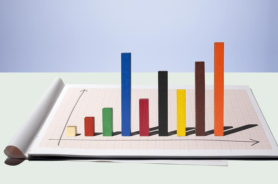 Bar chart build of multi colored rods Photograph by Erik Dreyer
