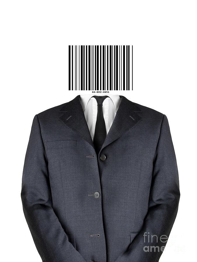 Man Mixed Media - Bar Code Man by Shawn Hempel