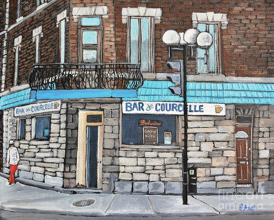 Bars Painting - Bar De Courcelle St-henri by Reb Frost