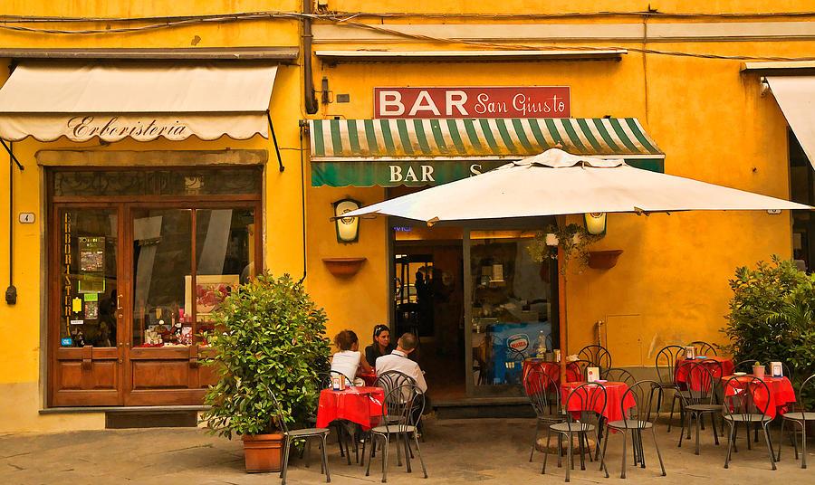 Lucca Digital Art - Bar San Giusto by Mick Burkey
