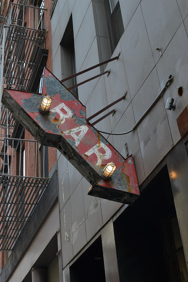 Sign Photograph - Bar Sign by Matt Radcliffe