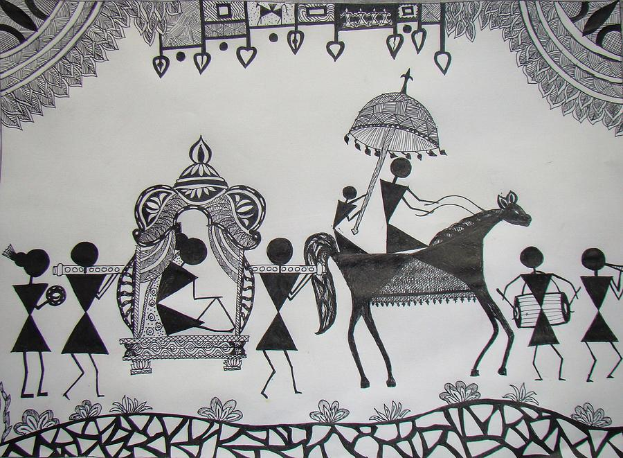 Black And White Painting Designs