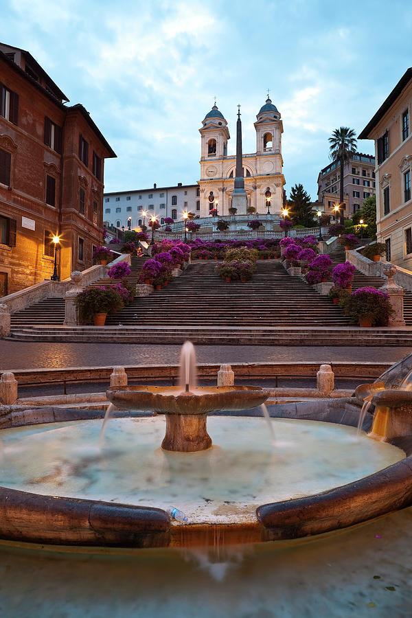 Baraccia Fountain At Bottom Of Spanish Photograph by Richard Ianson