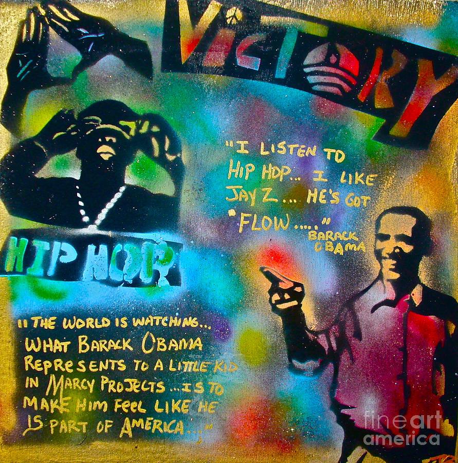Barack Obama Painting - Barack And Jay Z by Tony B Conscious