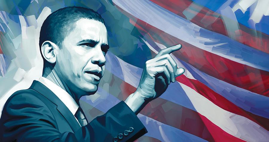Barack Obama Paintings Painting - Barack Obama Artwork 2 by Sheraz A