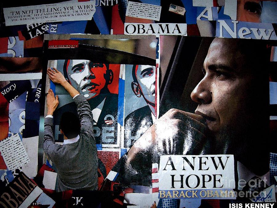 Barack Obama Mixed Media by Isis Kenney