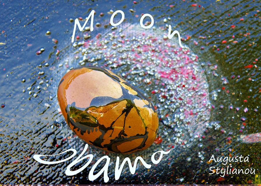 Barack Obama Painting Painting - Barack Obama Moon by Augusta Stylianou