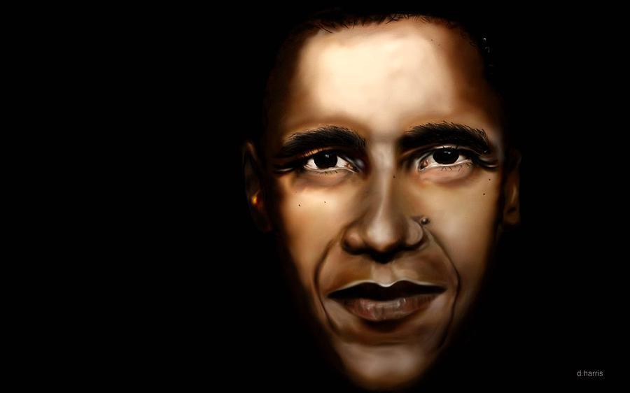 Digital Painting - Barack Obama - New Day by Anthony Anthony ICONS