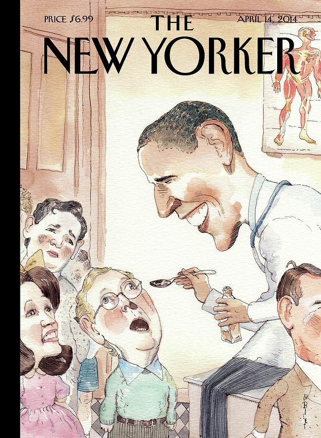 The Best Medicine Painting by Barry Blitt
