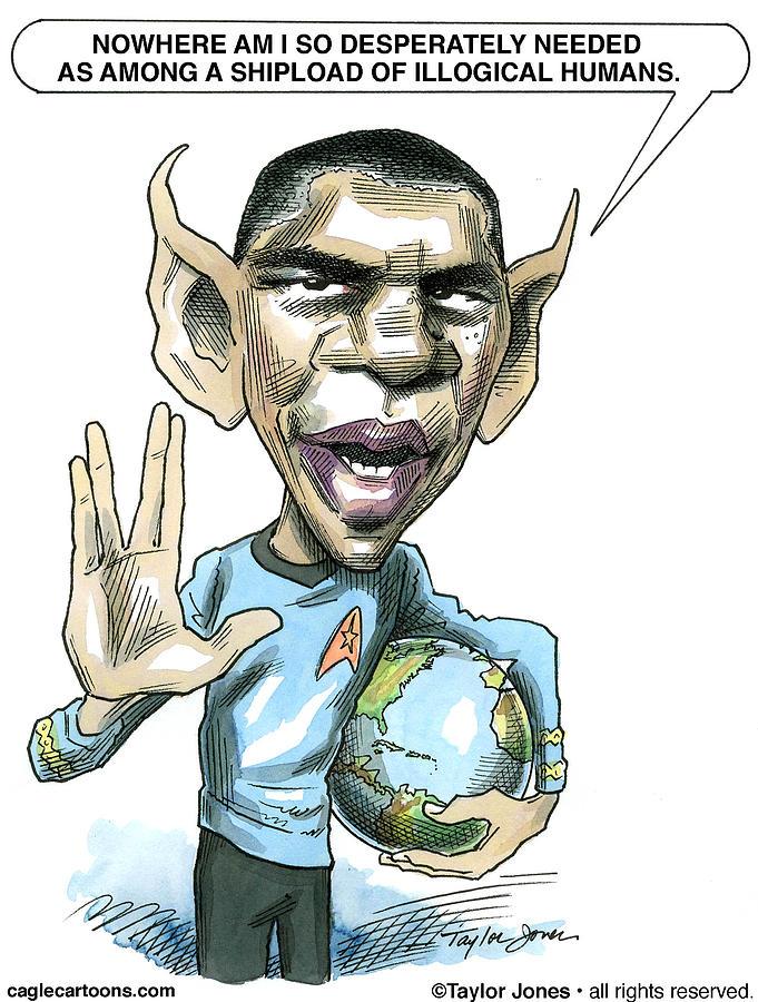 Barack Drawing - Barack Obama by Taylor Jones