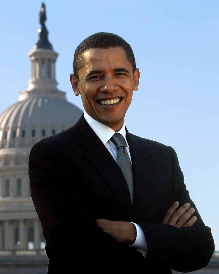 Obama Photograph - Barack Obama by Tilen Hrovatic