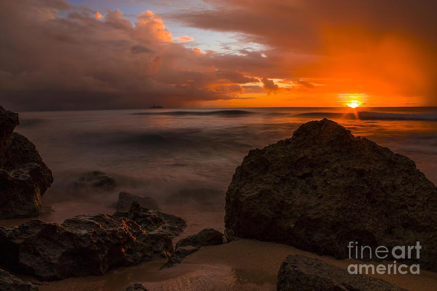 Barbados Photograph - Barbados Sunset by Matt  Trimble