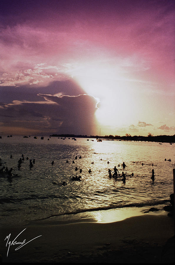 Barbados Photograph - Barbados Sunset by Max CALLENDER