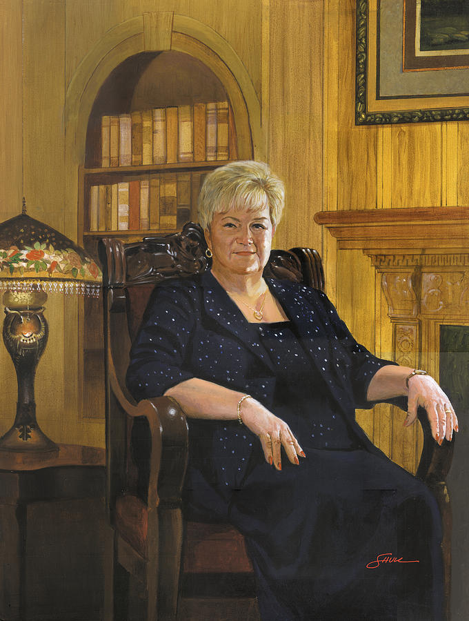 Portrait Painting - Barbara Smith by Harold Shull