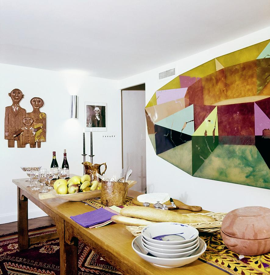 Barbara Jakobsons Dining Room Photograph by Horst P. Horst