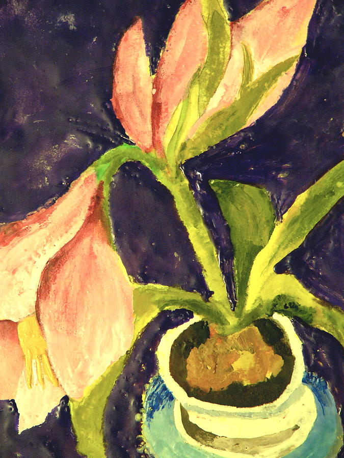 Lily Painting - Barbaras Lily by Valerie Lynch