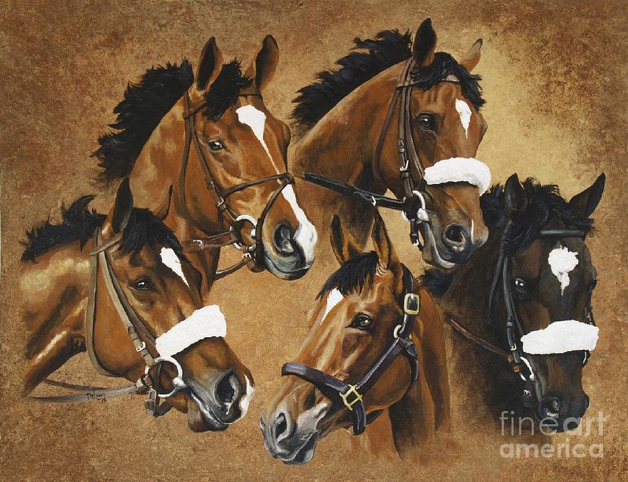 Barbaro And His Brothers Painting By Pat Delong