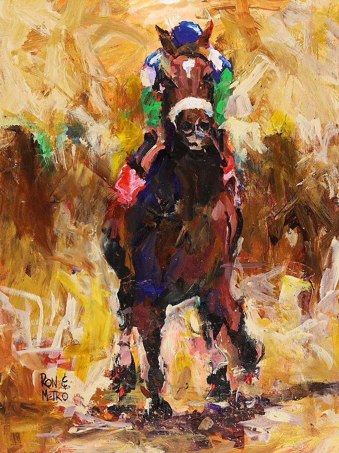 Barbaro Painting - Barbaro by Ron Krajewski