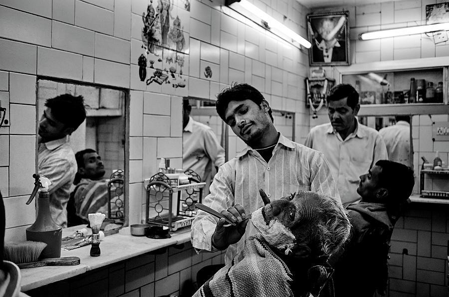 Barber Photograph - Barbearia by Lu??s Godinho
