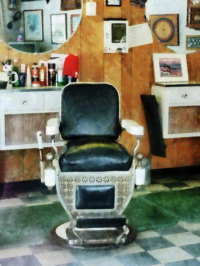 Barber Photograph - Barber - Barber Chair Front View by Susan Savad
