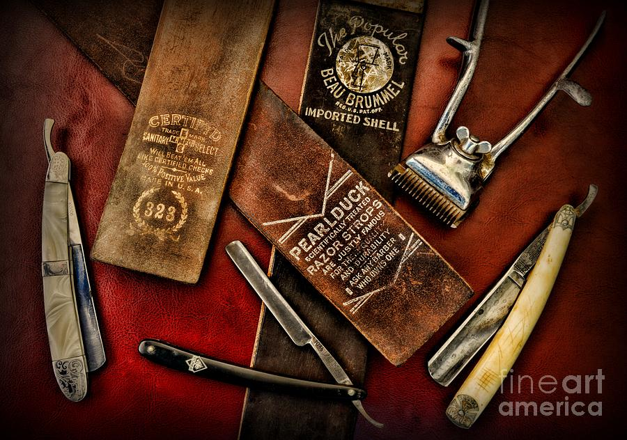 Vintage Barber Photograph - Barber - Barber Tools Of The Trade by Paul Ward
