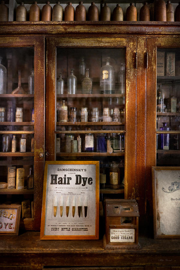 Barber Photograph - Barber - Hair Dye by Mike Savad