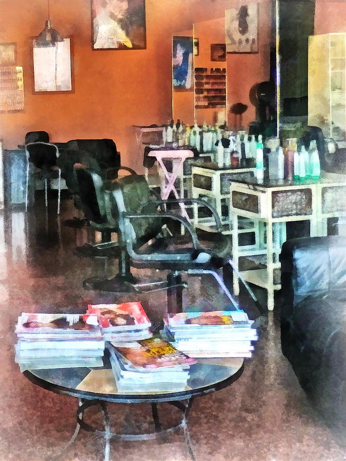 Barber Photograph - Barber - Hair Salon by Susan Savad