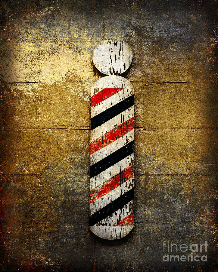 Barber Pole Photograph - Barber Pole by Andee Design