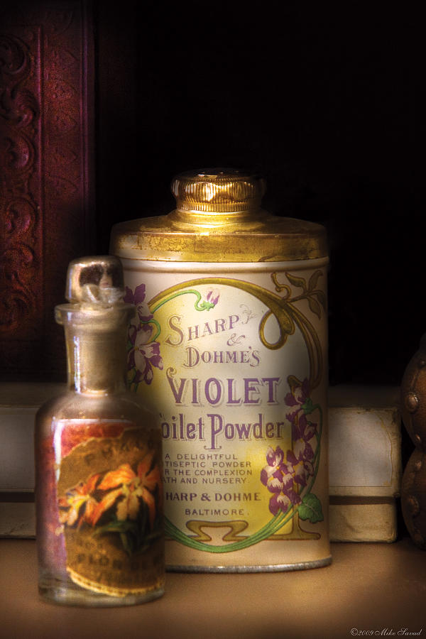 Savad Photograph - Barber -  Sharp And Dohmes Violet Toilet Powder  by Mike Savad