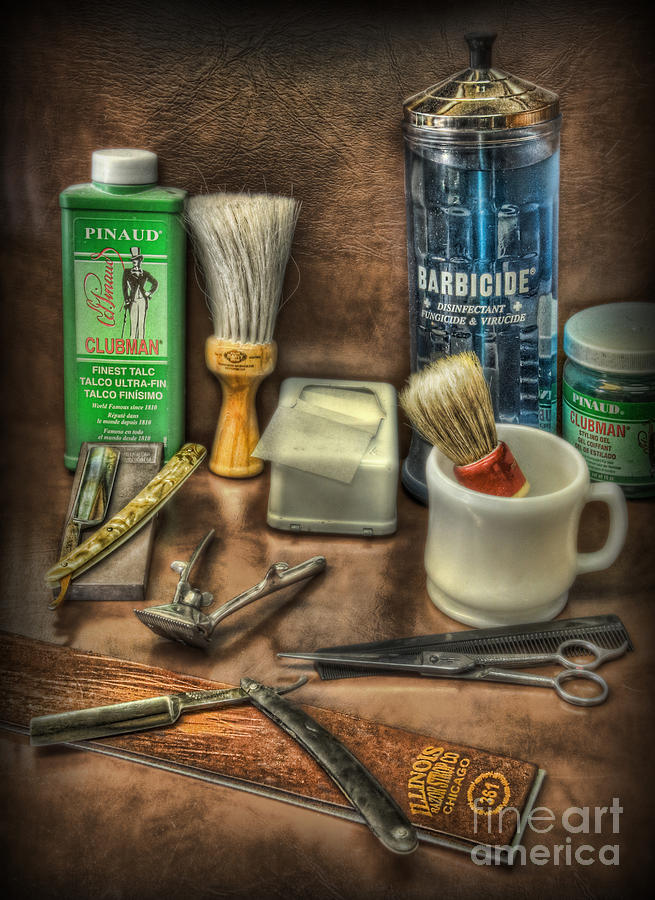 Barbicide Photograph - Barber Shop Tools  by Lee Dos Santos