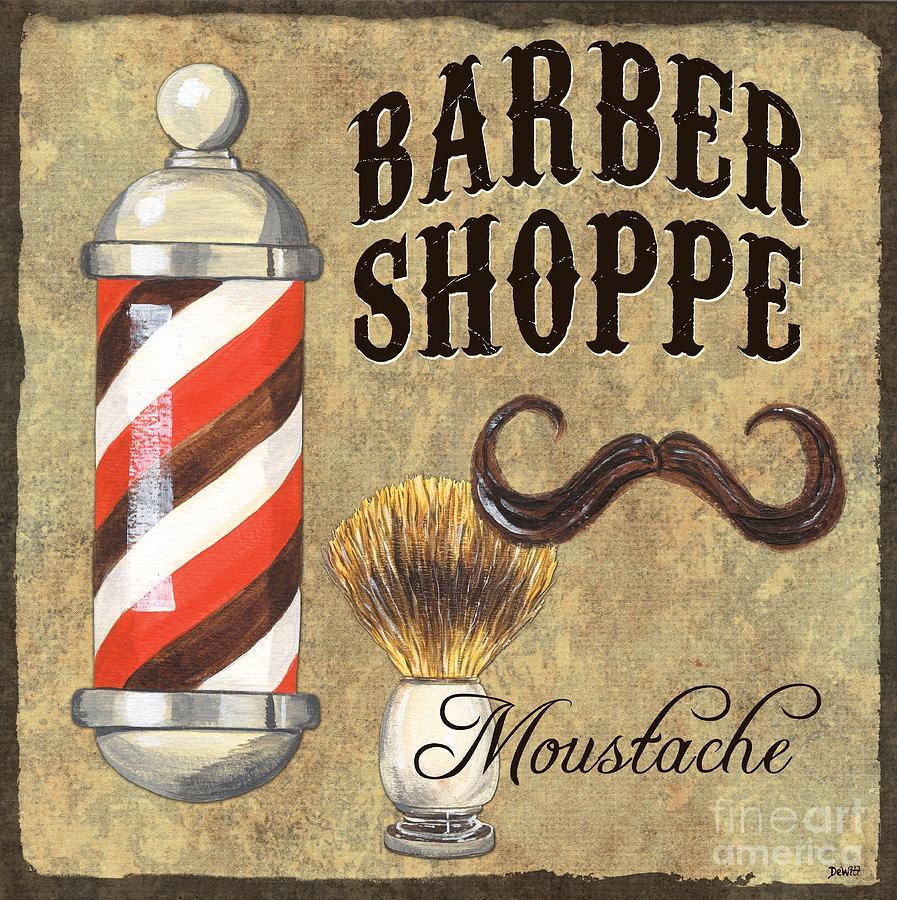 Fashion Painting - Barber Shoppe 1 by Debbie DeWitt