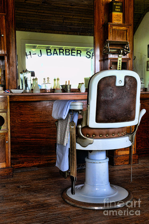 Barber Photograph - Barber - The Barber Shop by Paul Ward
