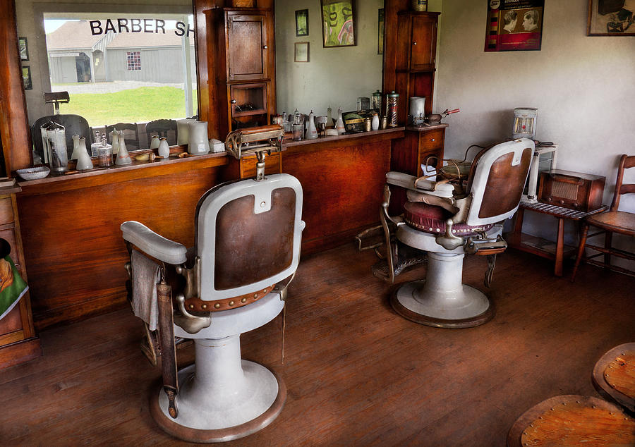 Barber Photograph - Barber - The Hair Stylist by Mike Savad