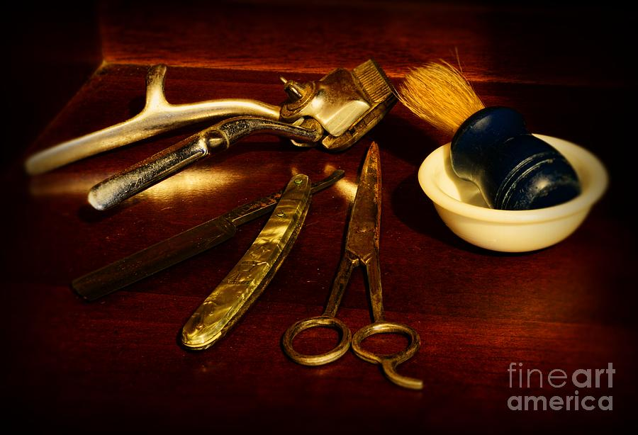 Paul Ward Photograph - Barber - Things In A Barber Shop by Paul Ward